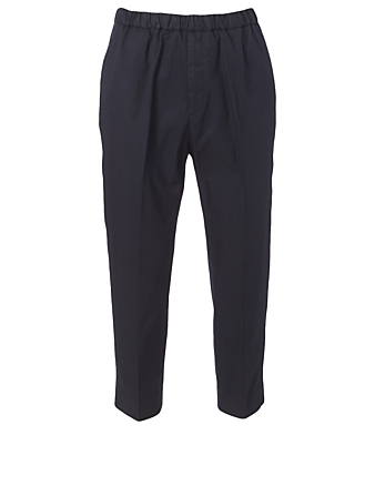 JIL SANDER Cotton Gabardine Pants Men's Blue