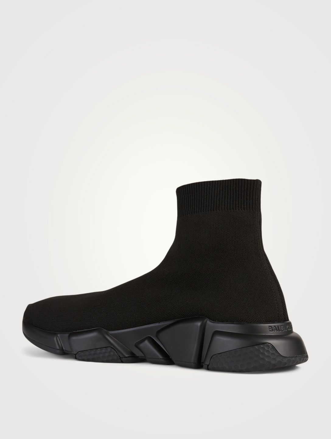 BALENCIAGA Speed Knit High-Top Sneakers Sock Sneakers With Logo Sole Men's Black