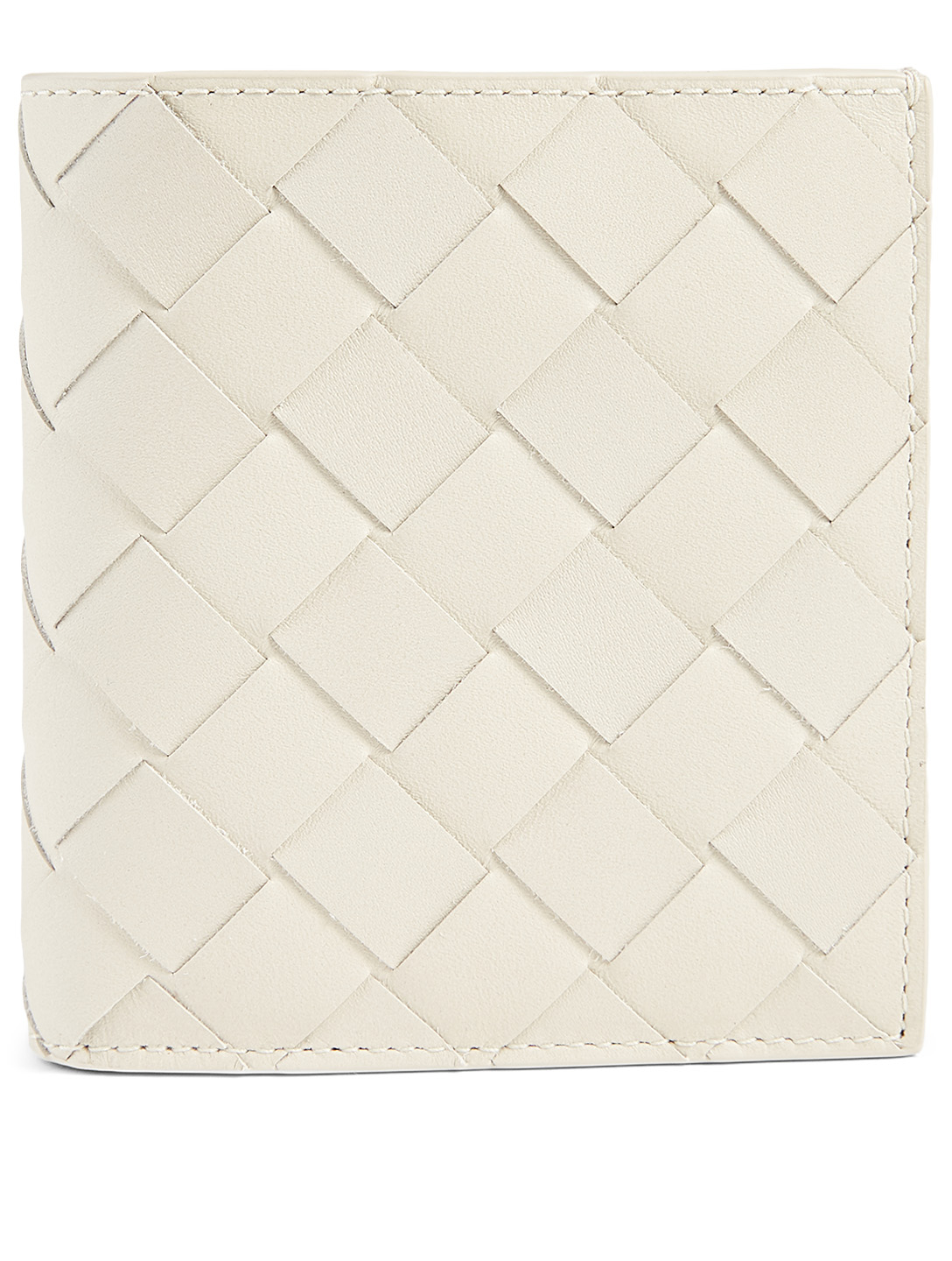 BOTTEGA VENETA Intrecciato Leather Bifold Wallet Men's Grey