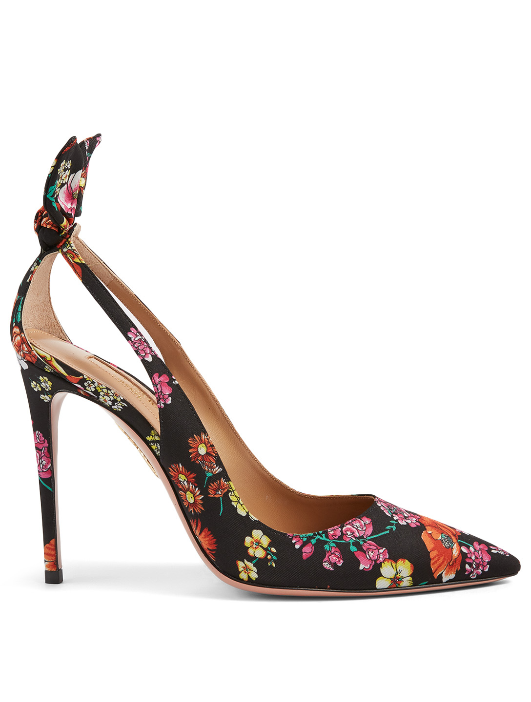 AQUAZZURA Deneuve 105 Fabric Pumps In Floral Print Women's Multi