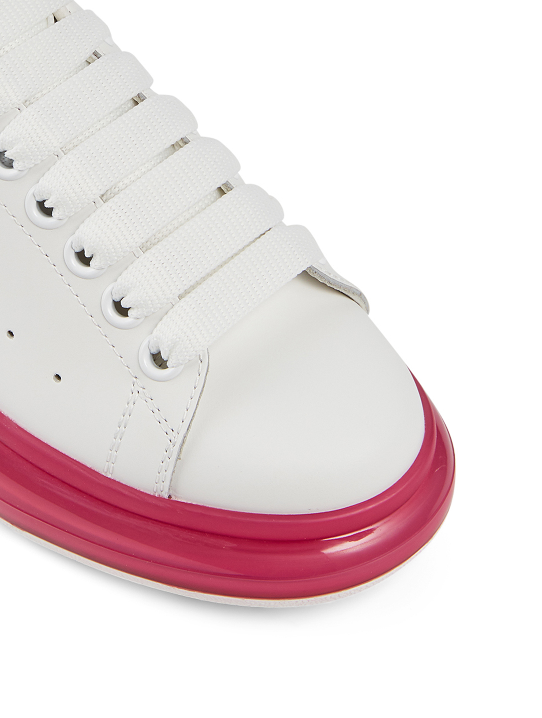 ALEXANDER MCQUEEN Oversized Leather Sneakers Women's Pink