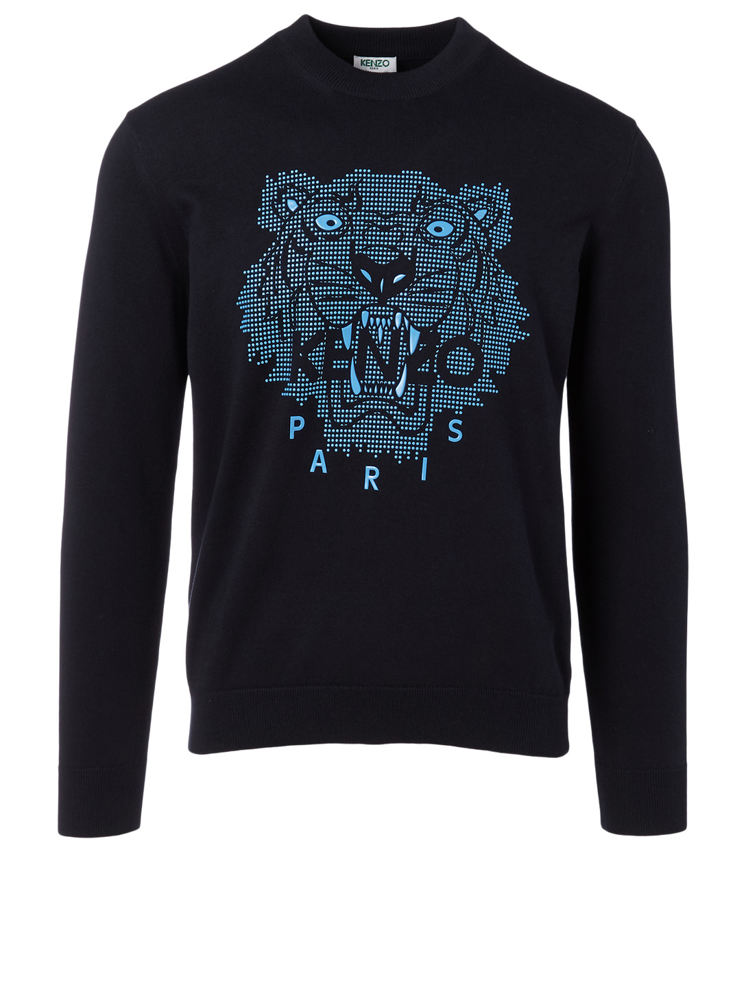 KENZO Sweater With Embossed Tiger Men's Blue