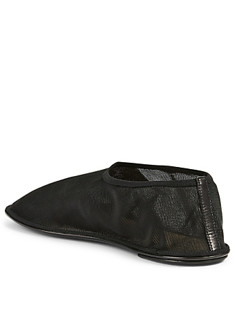 THE ROW Sock Nylon Mesh Flats Women's Black