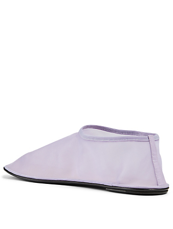 THE ROW Sock Nylon Mesh Flats Women's Purple