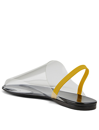 THE ROW Clear Vinyl And Leather Slingback Sandals Women's Black