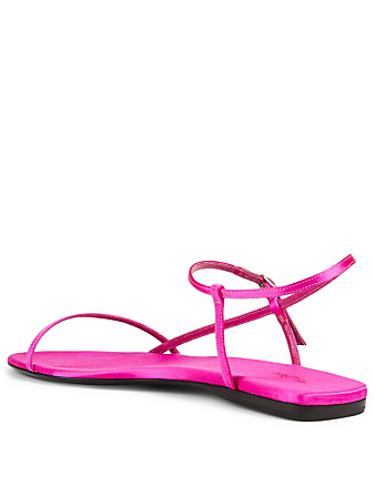 THE ROW Bare Silk Flat Sandals Women's Pink