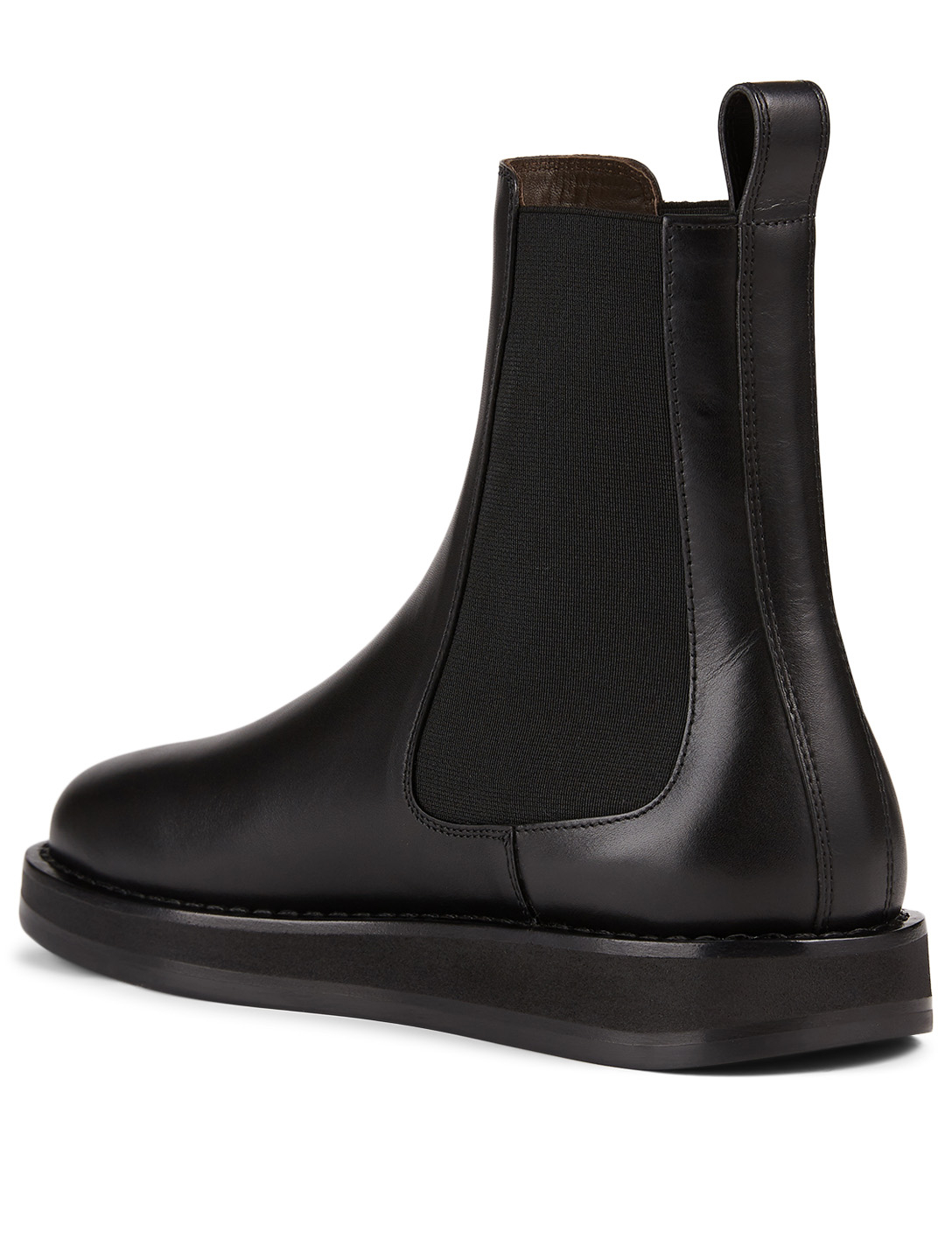 THE ROW Gaia Leather Chelsea Boots Women's Black