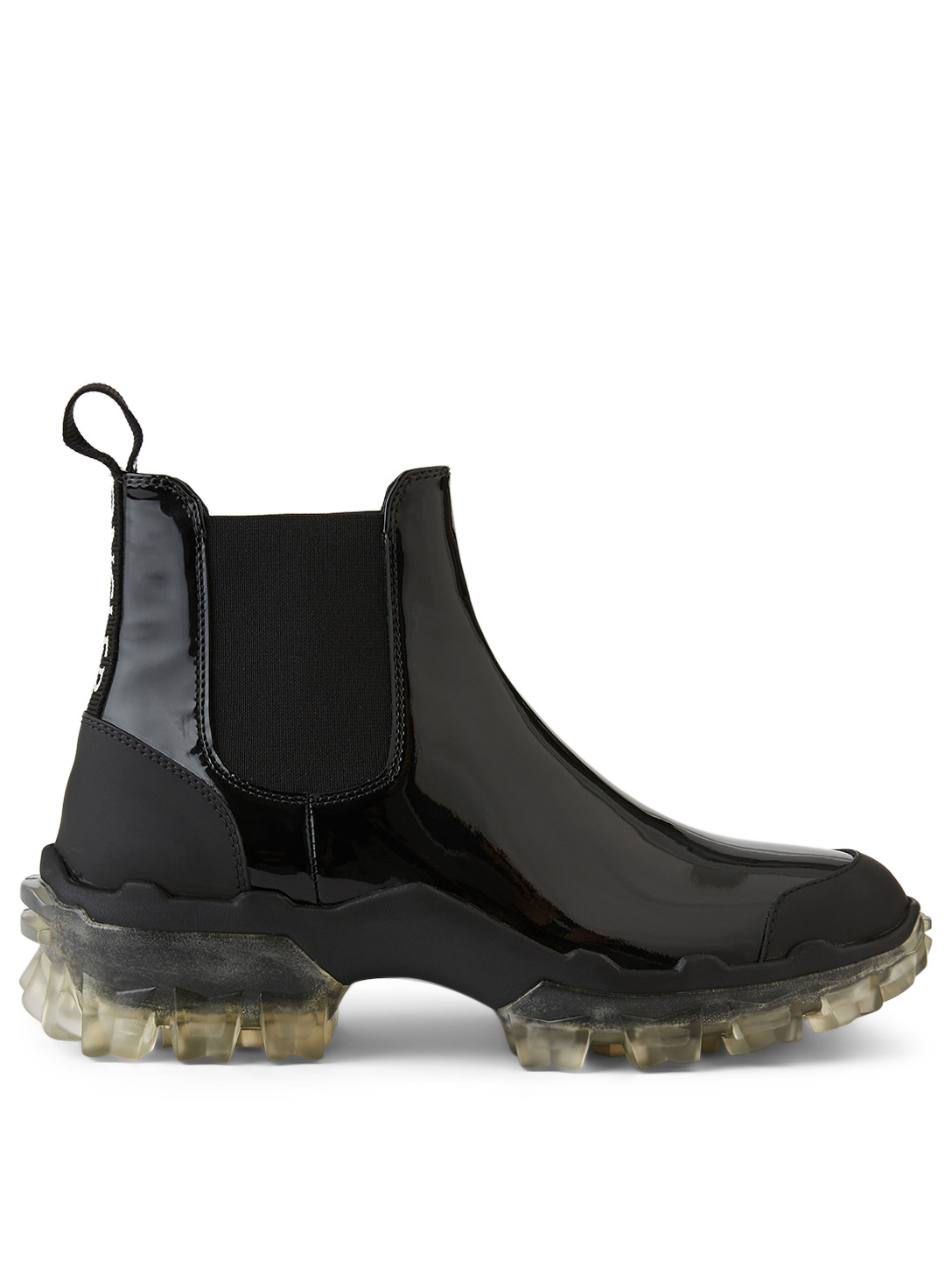 MONCLER Hanya Leather Chelsea Boots Women's Black