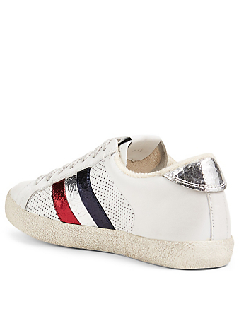 MONCLER Ryegrass Leather Sneakers Women's White