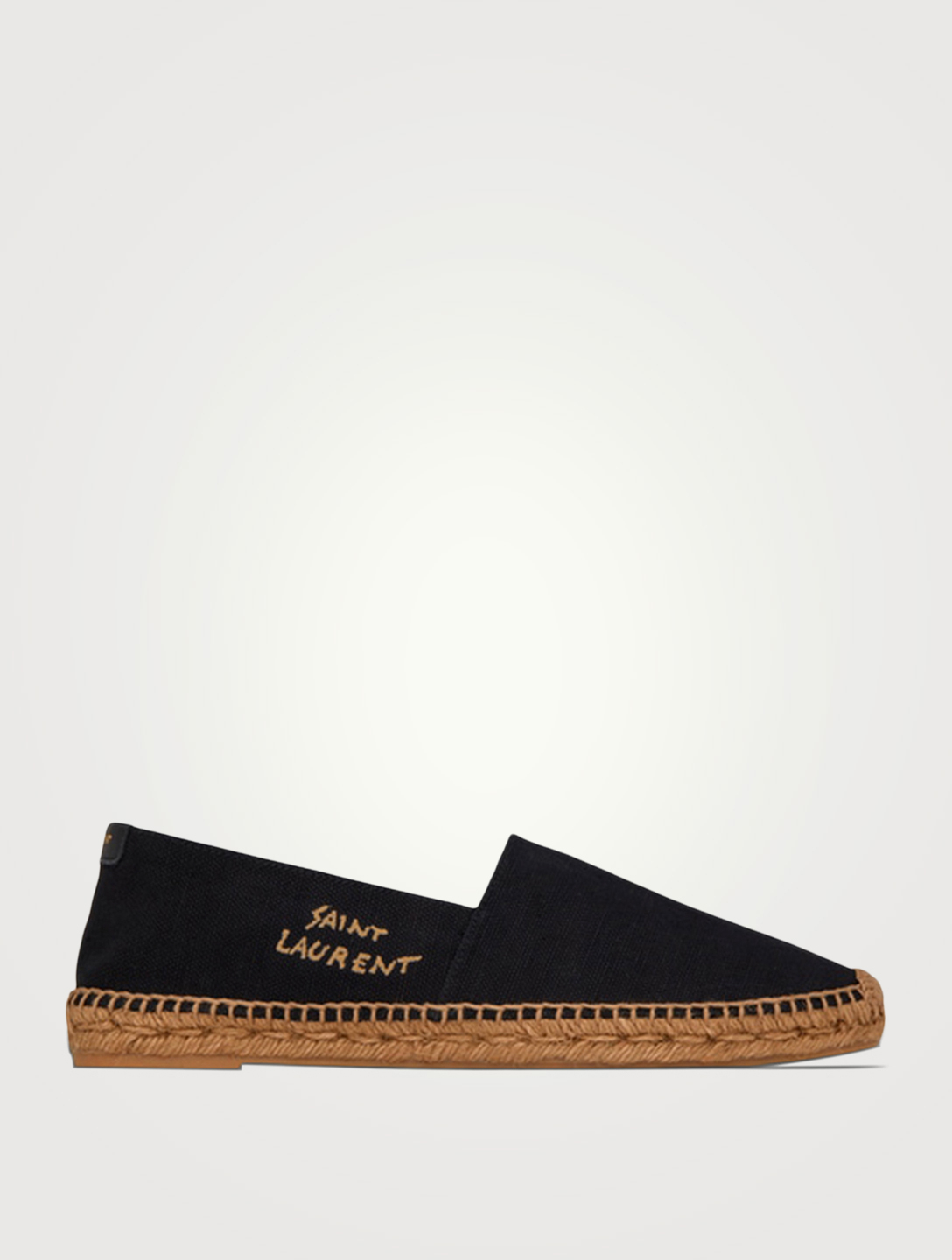 SAINT LAURENT Canvas Espadrilles Women's Black