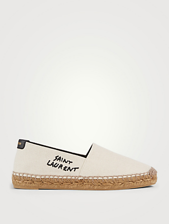 SAINT LAURENT Canvas Espadrilles Women's White