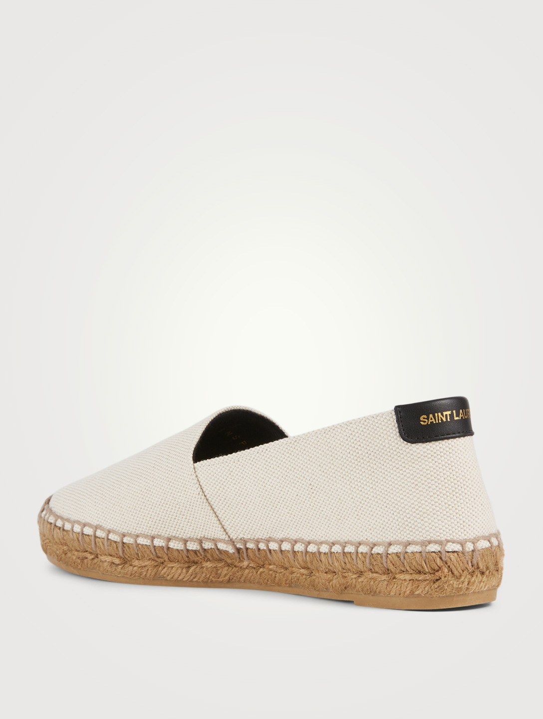 SAINT LAURENT SL Canvas Espadrilles Women's White