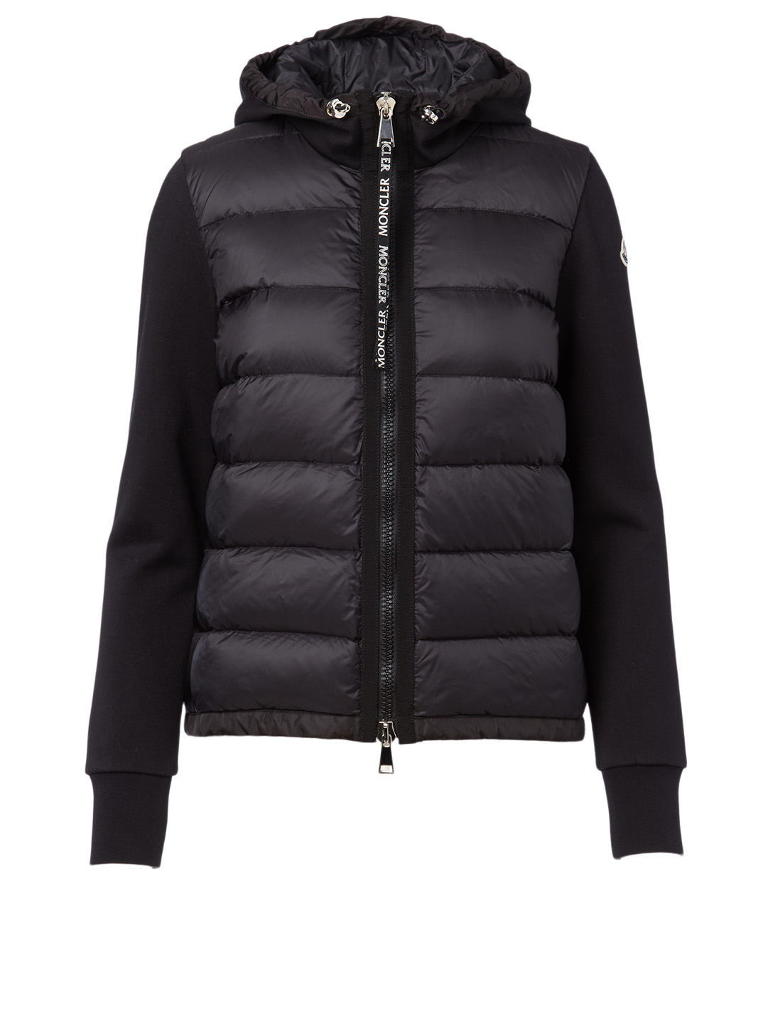 MONCLER Quilted Zip Cardigan Women's Black