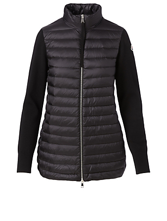 MONCLER Wool Quilted Cardigan Women's Black