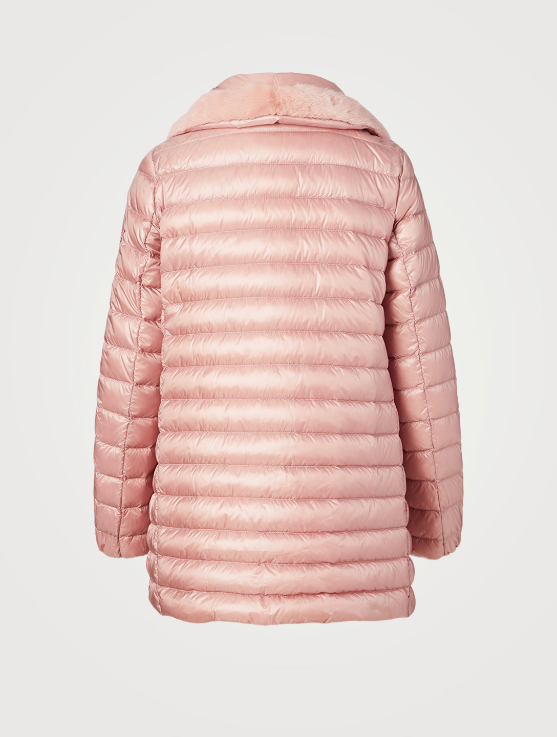 MONCLER Caban Quilted Jacket Women's Pink