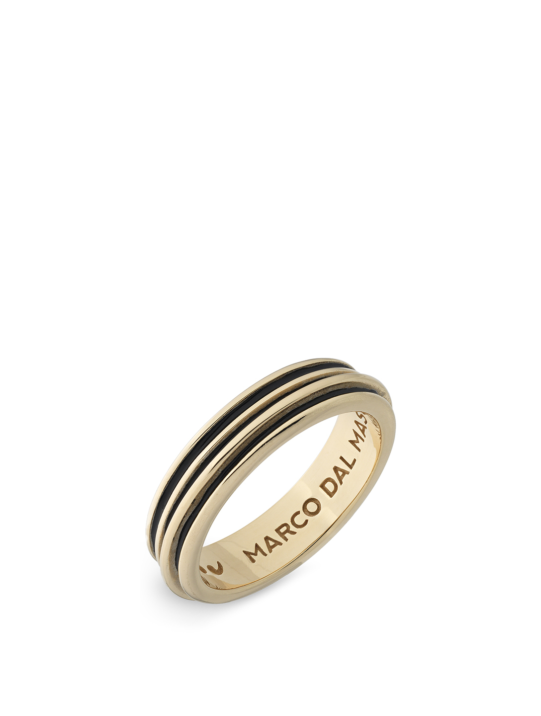 MARCO DAL MASO Acies Single 18K Yellow Gold Plated Ring Men's Metallic