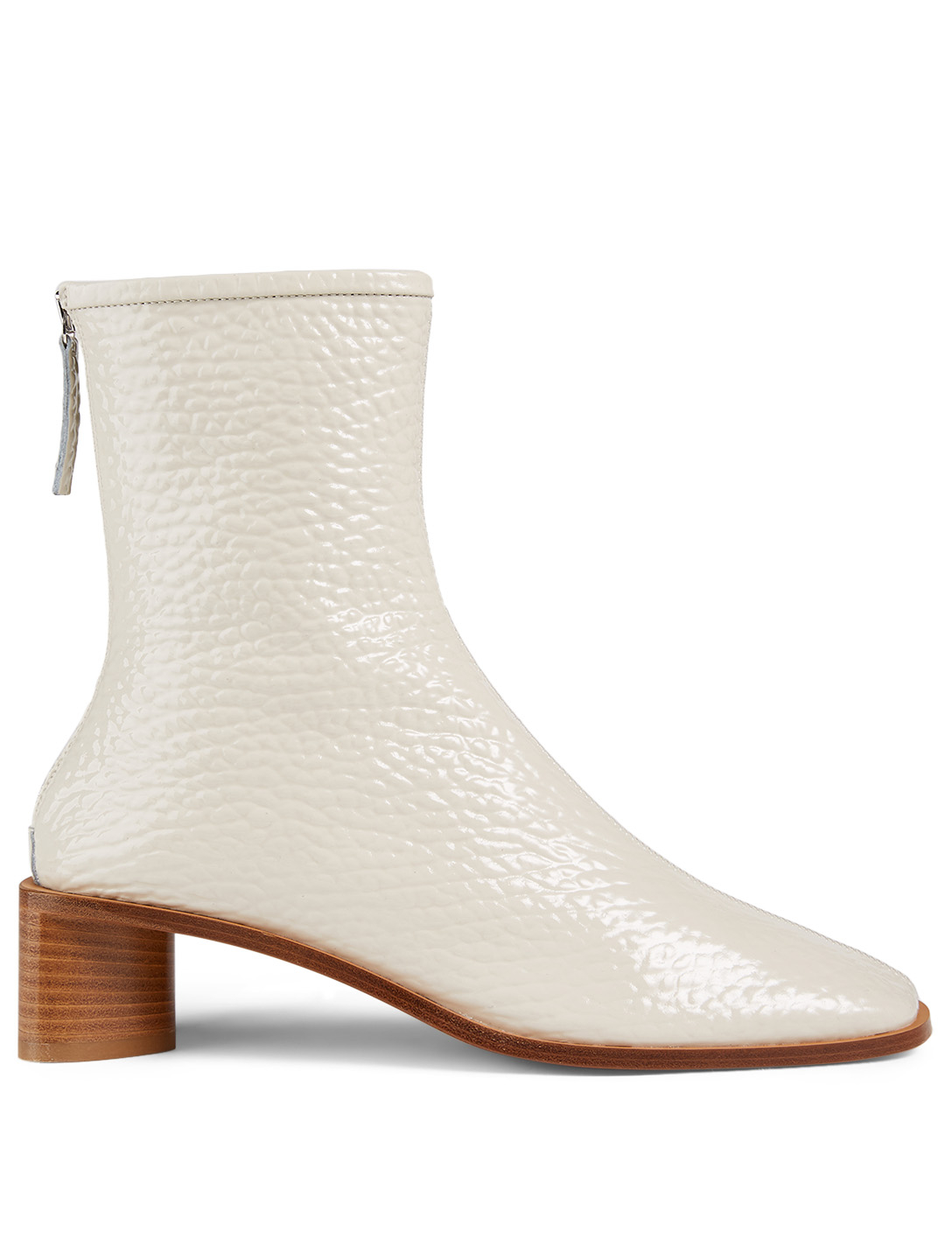 ACNE STUDIOS Bertine Leather Heeled Ankle Boots Women's Neutral