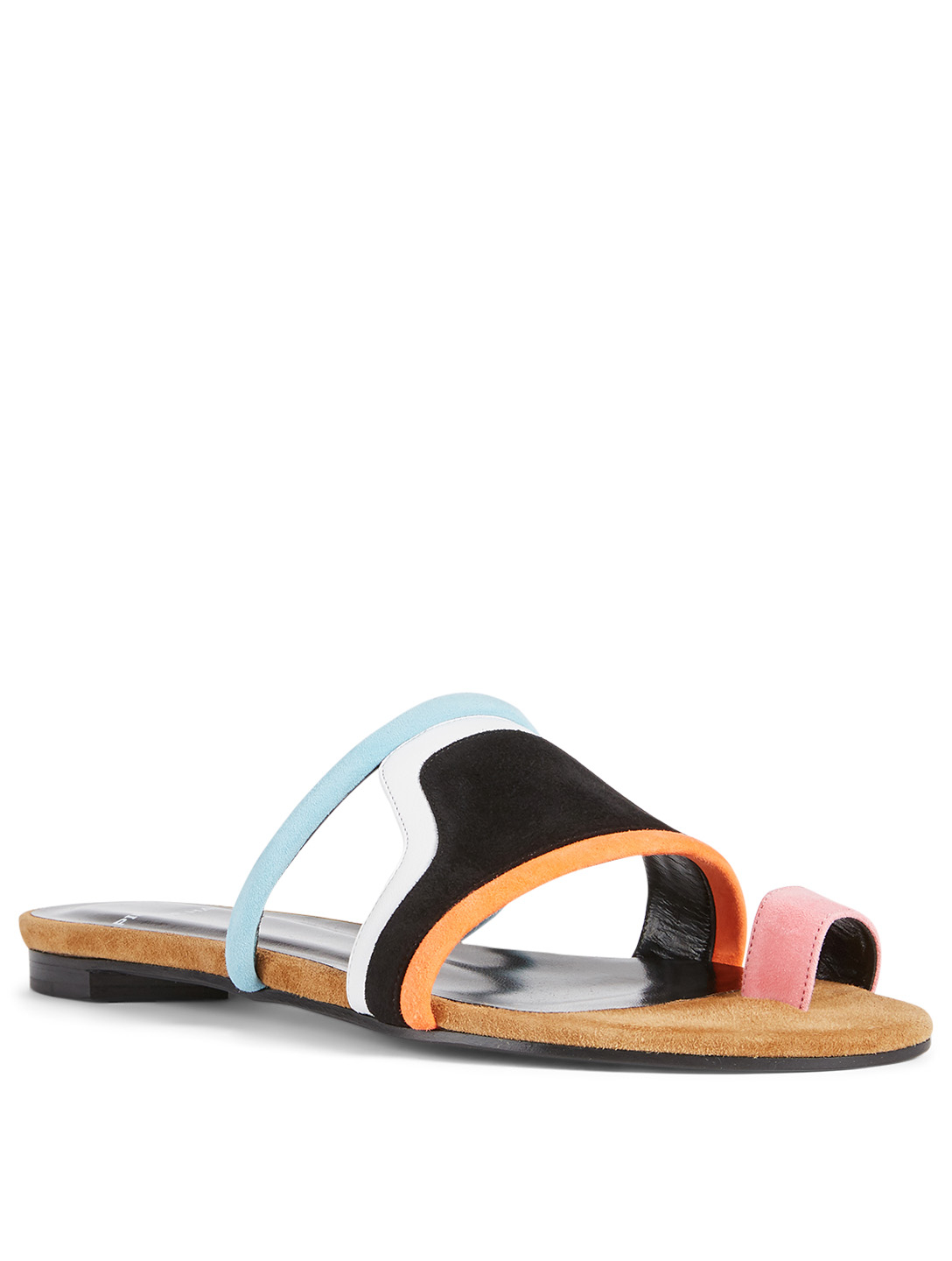 PIERRE HARDY Wave Suede Slide Sandals Women's Black