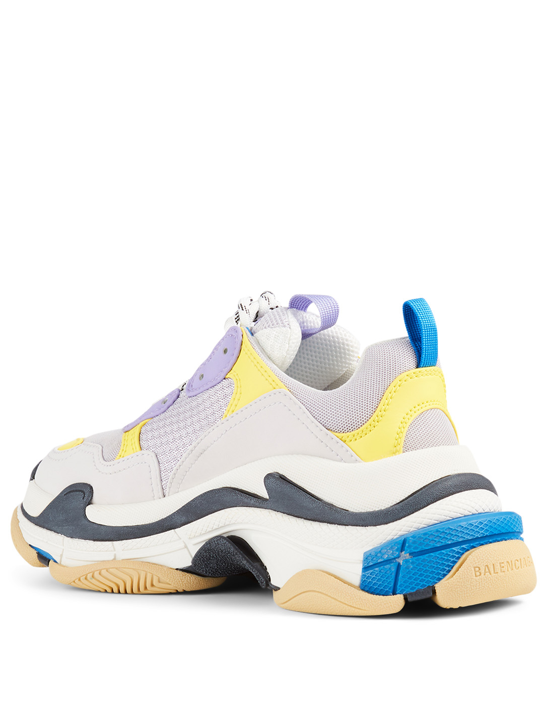 BALENCIAGA Triple S Mesh And Leather Sneakers Women's White
