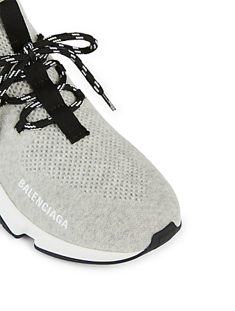 BALENCIAGA Speed Lace-up Sock Sneakers Women's Grey
