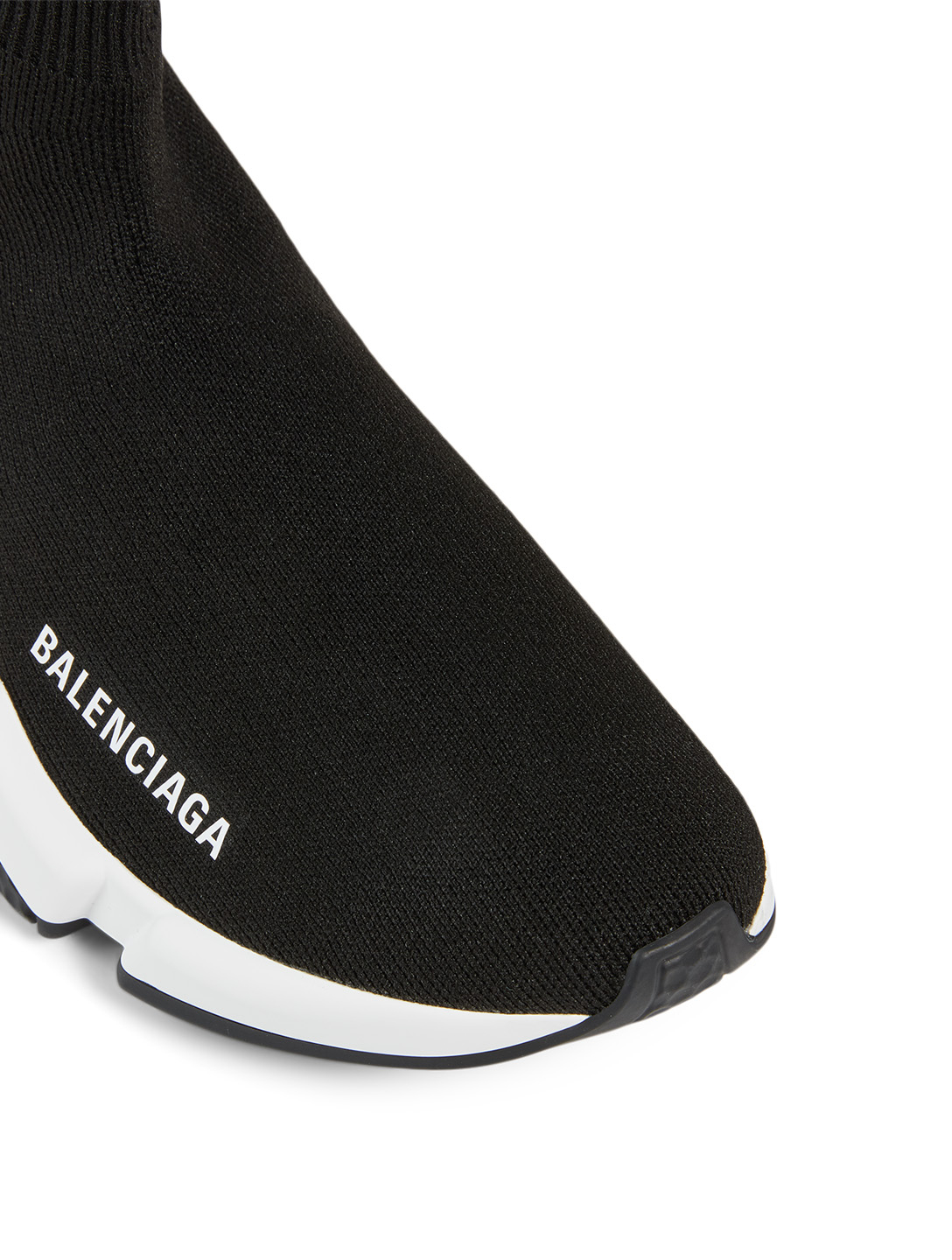 BALENCIAGA Speed Sock Sneakers With Clear Sole Women's Black