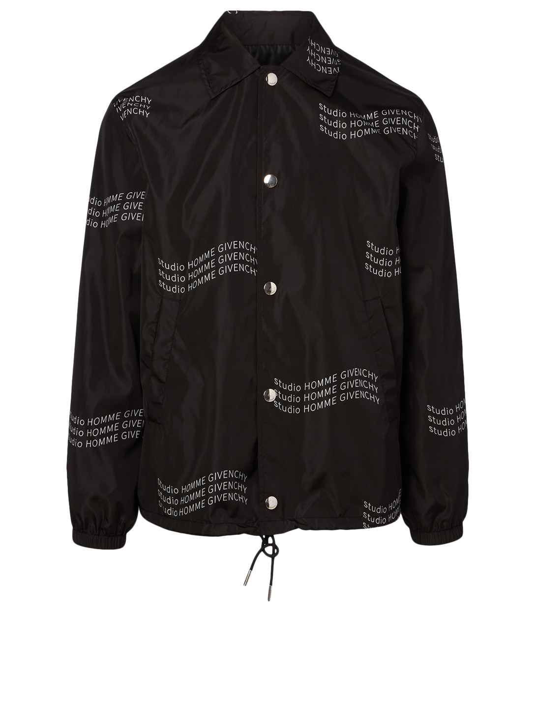 GIVENCHY Jacket In Wavy Logo Print Men's Black