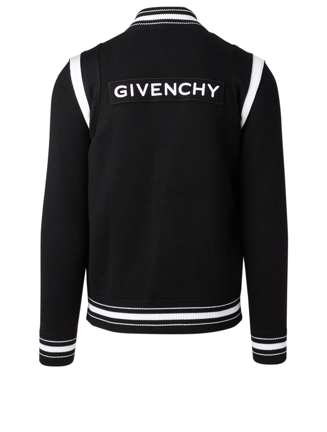 GIVENCHY Wool Bomber Jacket With Logo Back Men's Black