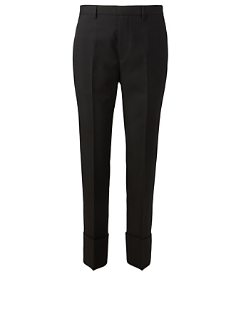 GIVENCHY Wool Slim Pants With Reverses Men's Black