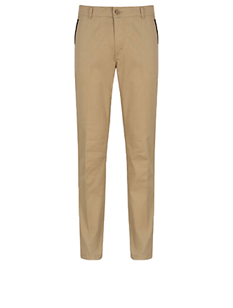 GIVENCHY Address Slim-Fit Chino Pants Men's Beige