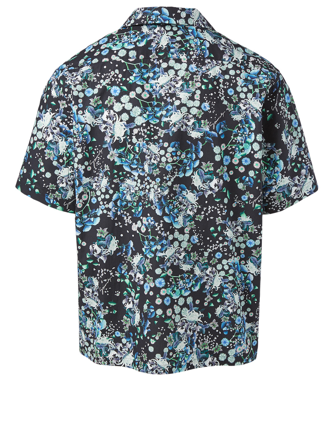 GIVENCHY Cotton Short-Sleeve Shirt In Floral Print Men's Black