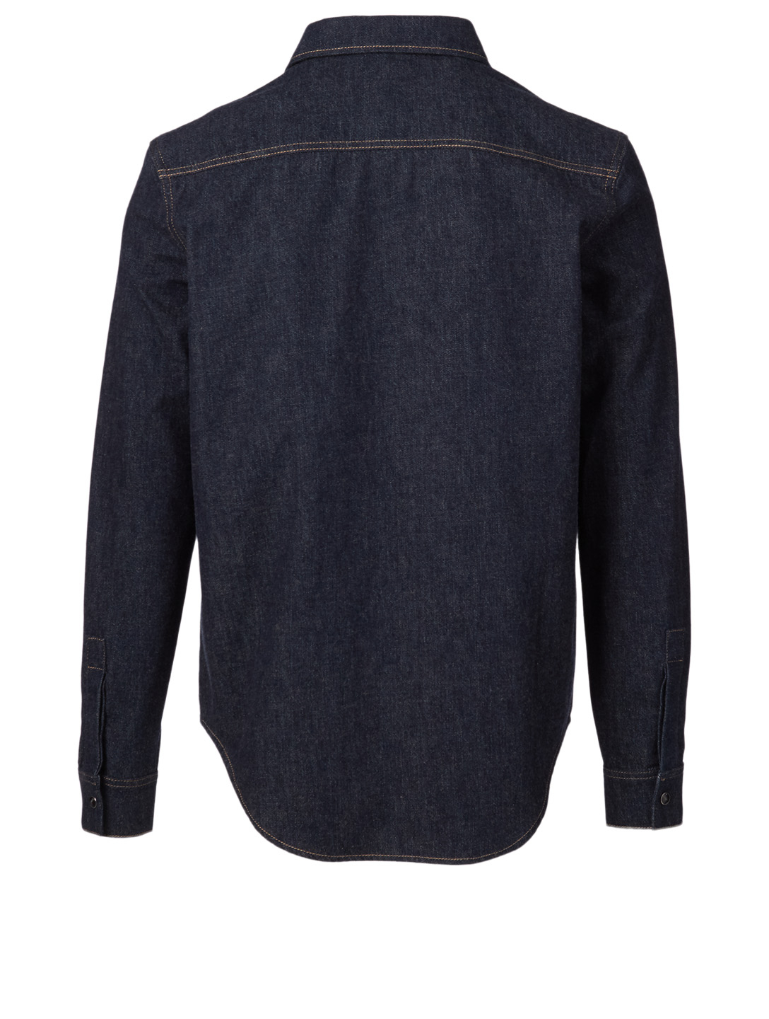 GIVENCHY Cotton Denim Shirt With Logo Band Men's Blue