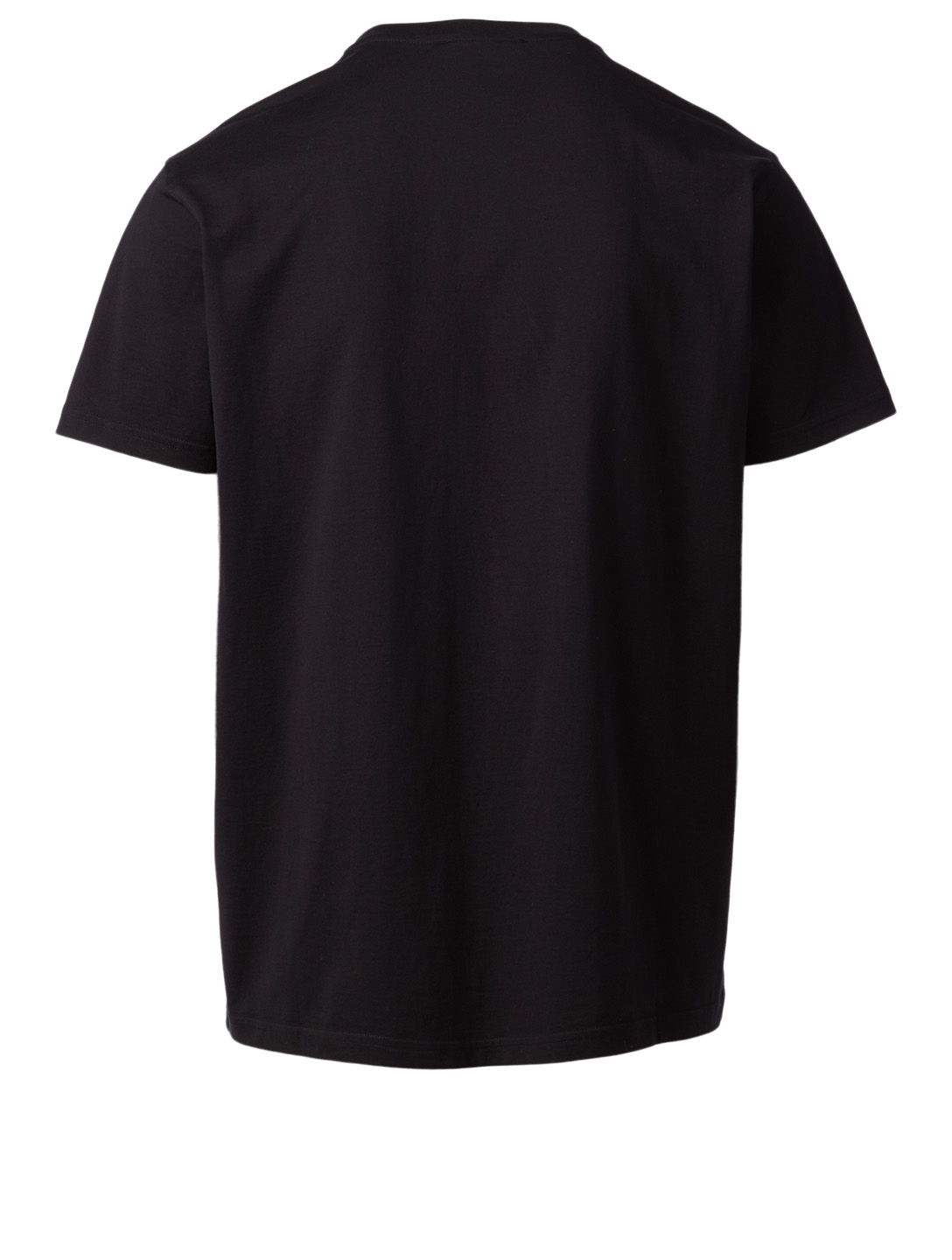 GIVENCHY Cotton T-Shirt With Tufted Logo Men's Black