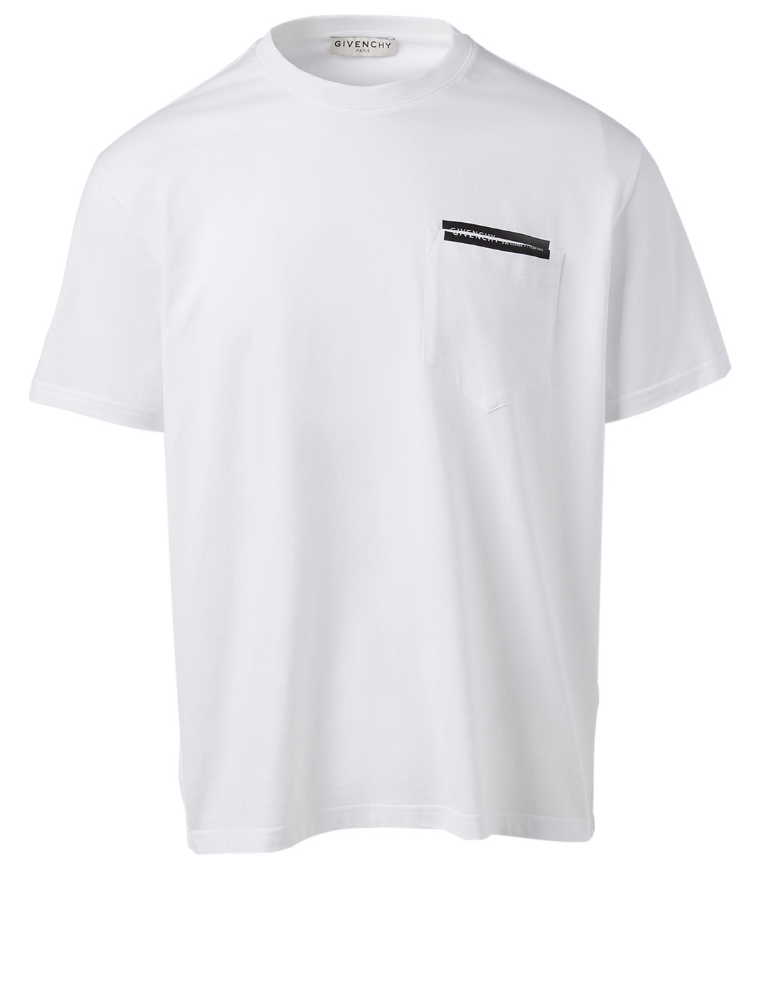 GIVENCHY Cotton T-Shirt With Laser Cut Men's White