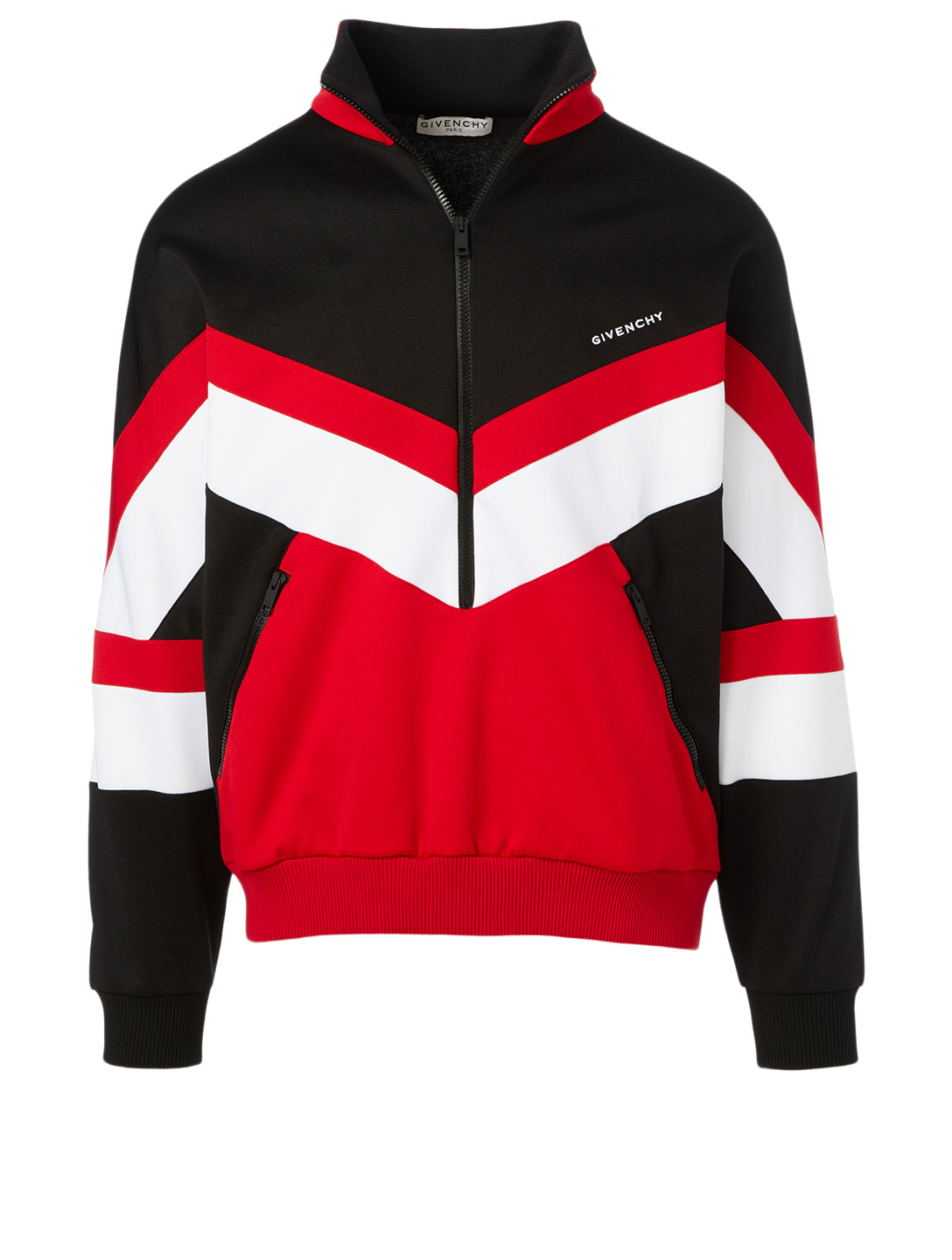 GIVENCHY Track Jacket With Contrast Yoke Men's Black