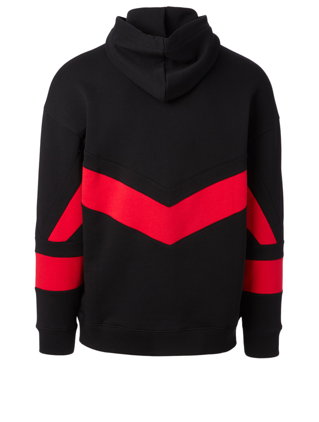 GIVENCHY Cotton Contrast Hoodie Men's Black