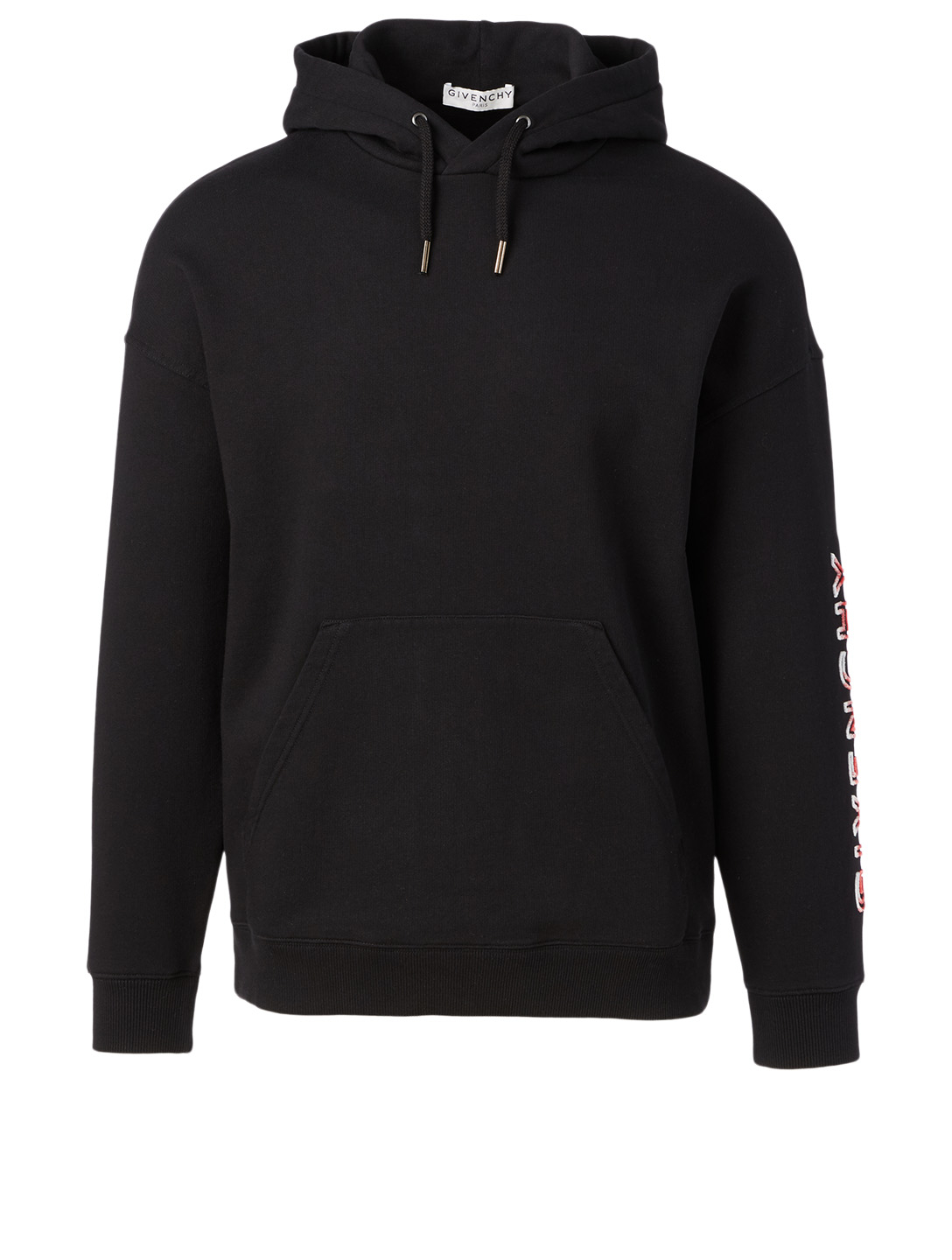 GIVENCHY Cotton Hoodie With Logo Men's Black