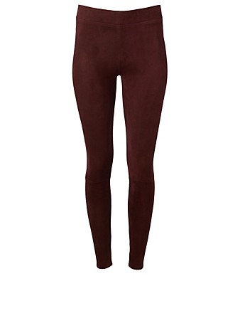 THE ROW Tomo Suede Pants Women's Red