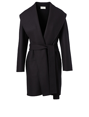 THE ROW Maddy Wool And Cashmere Coat Women's Blue