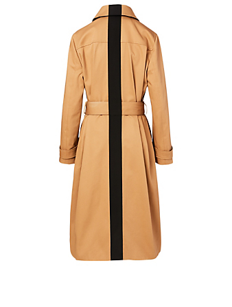 GIVENCHY Cotton Trench Coat With 4G Buttons Women's Beige