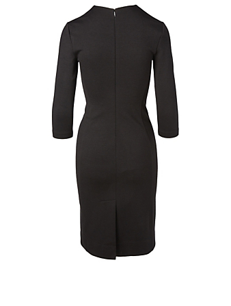 GIVENCHY Wool-Blend Midi Dress Women's Black