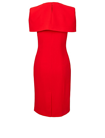 GIVENCHY Wool Cape Mini Dress Women's Red