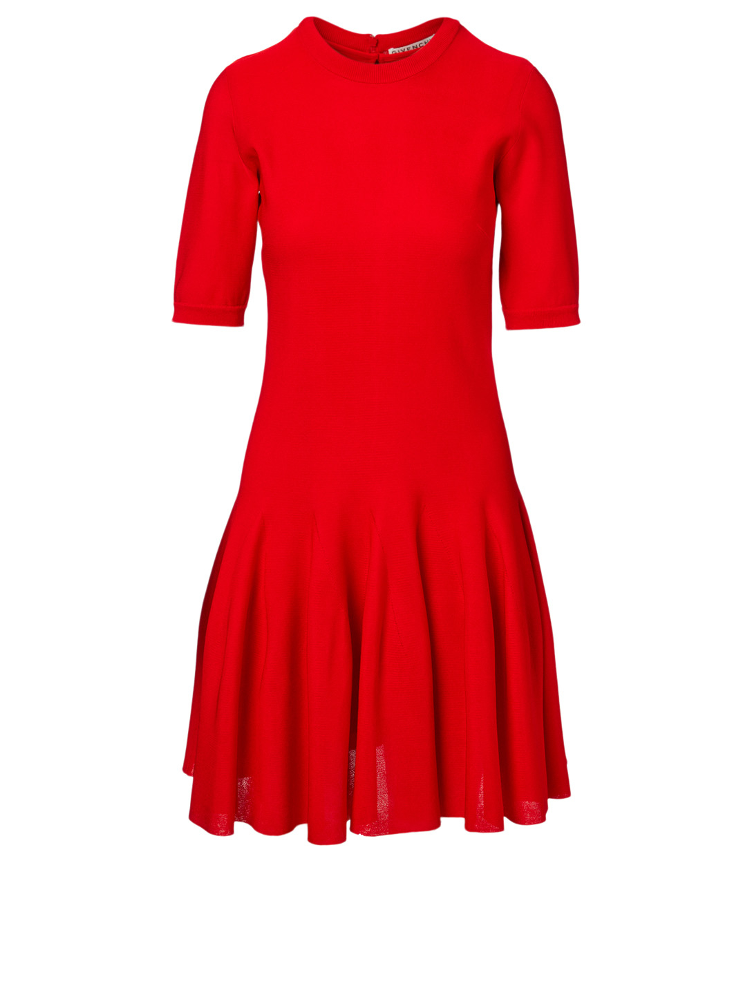 GIVENCHY Silk-Blend Knit Dress Women's Red