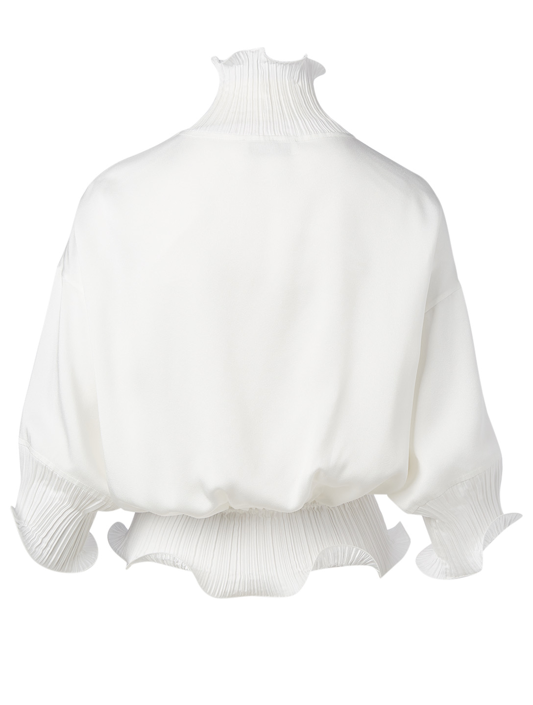 GIVENCHY Short-Sleeve Ruffle Top Women's White