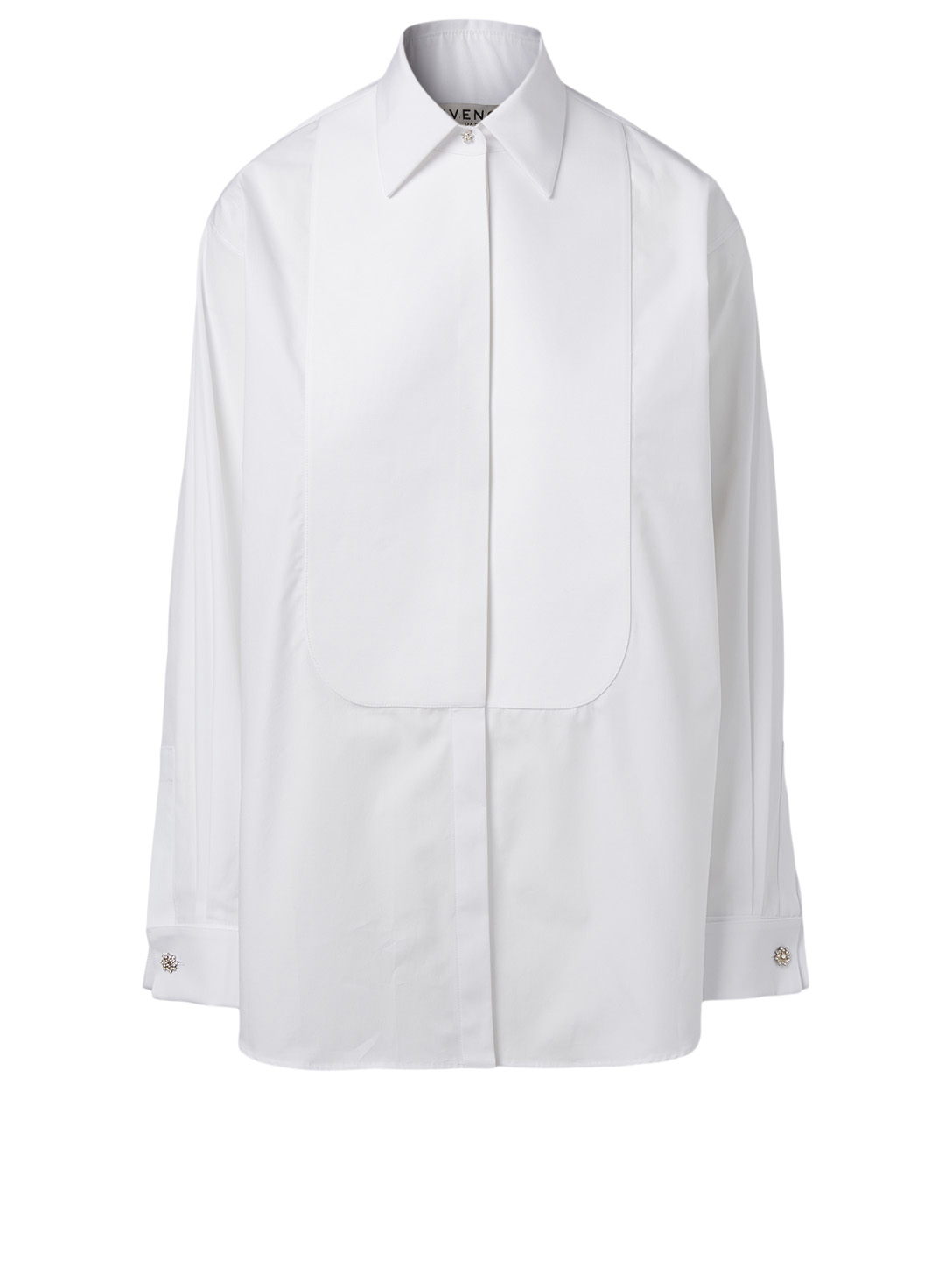 GIVENCHY Cotton Tuxedo Shirt Women's White
