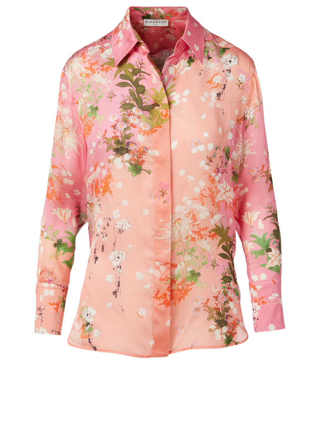 GIVENCHY Silk Blouse In Floral Print Women's Pink