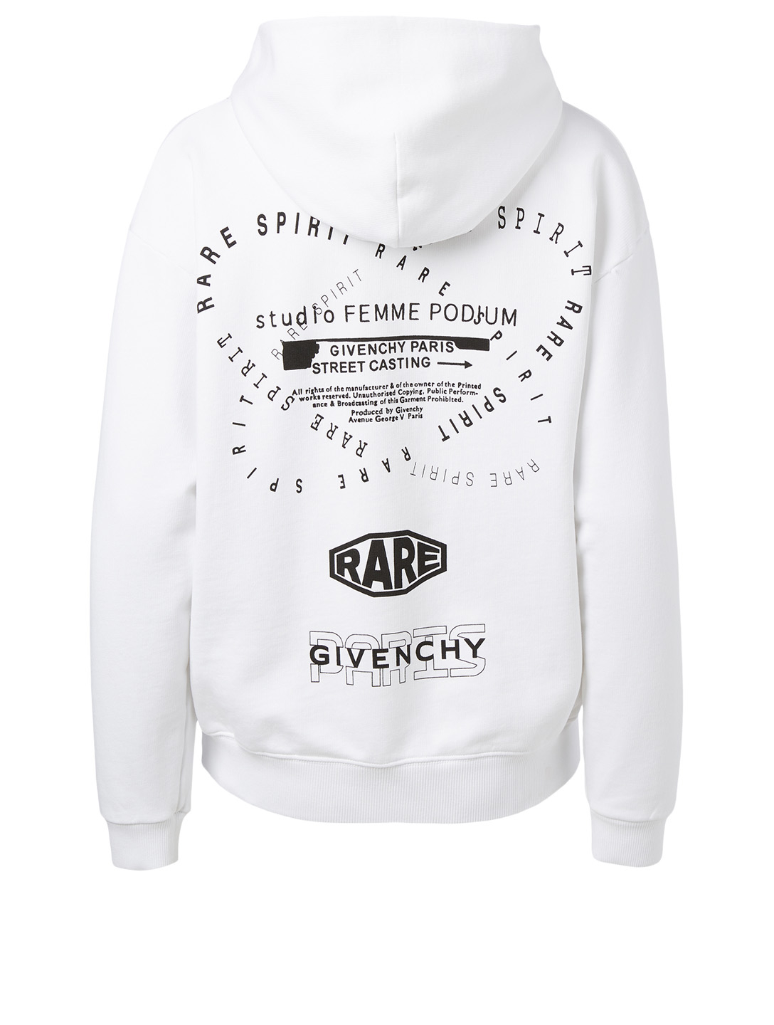 GIVENCHY Cotton Hoodie With Triple Logo Women's White