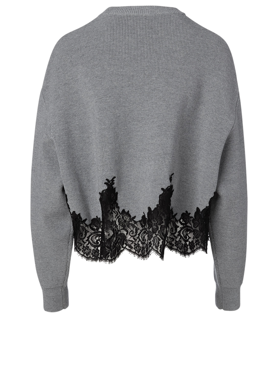 GIVENCHY Wool Sweater With Lace Women's Grey