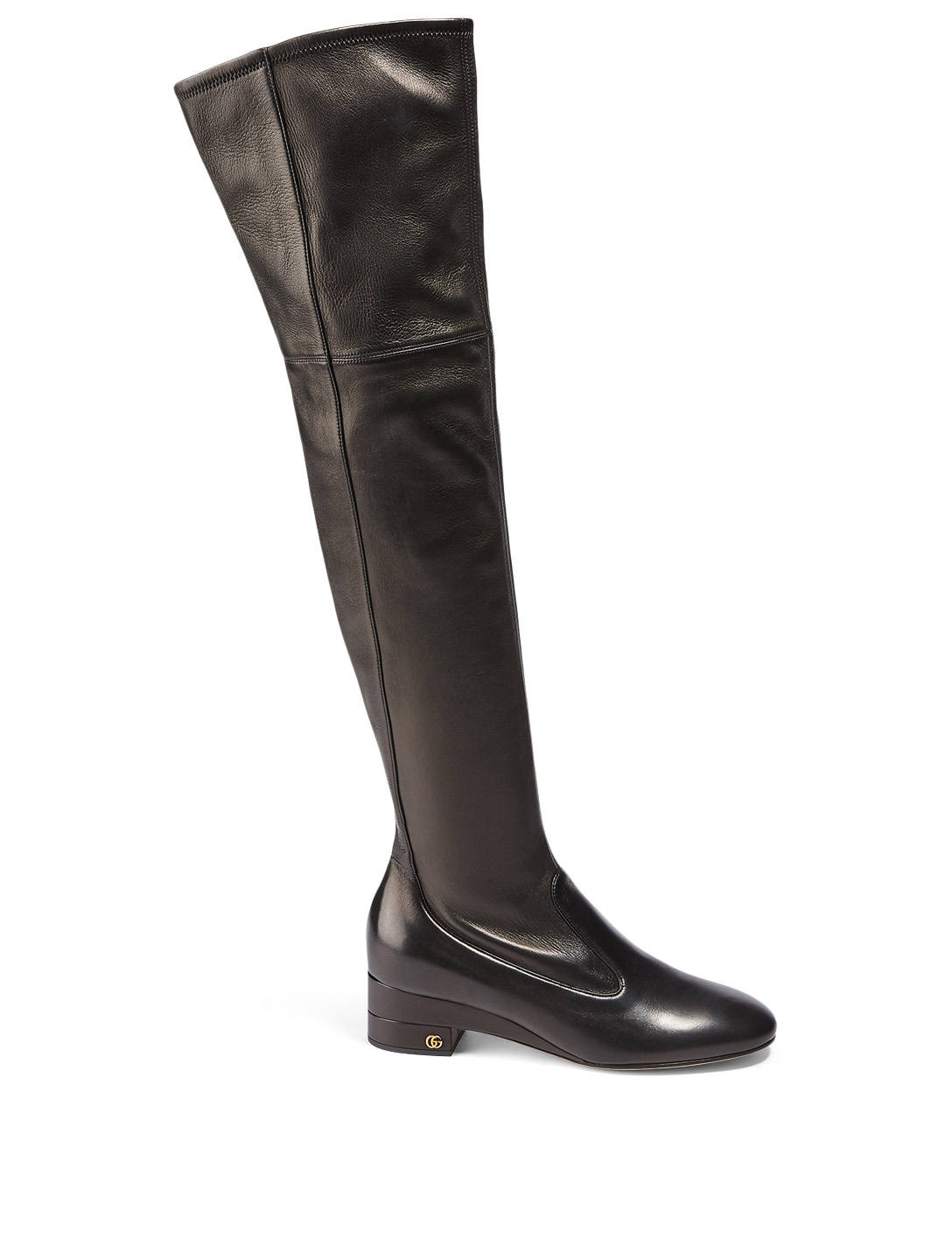 GUCCI Leather Over-The-Knee Boots Women's Black