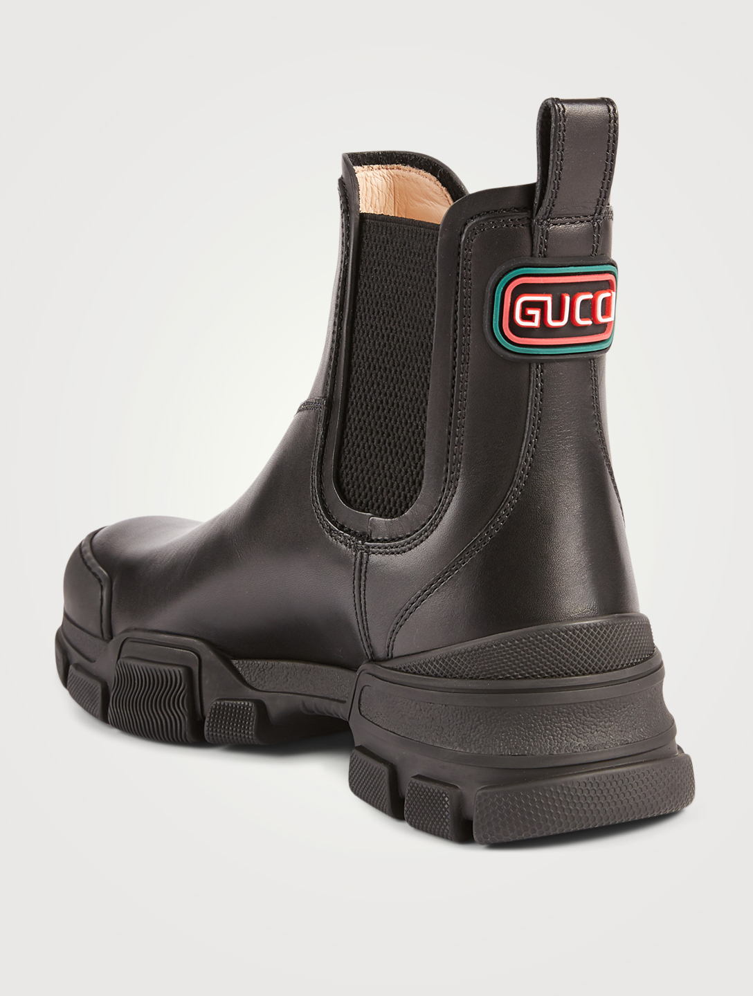 GUCCI Leather Chelsea Boots Women's Black