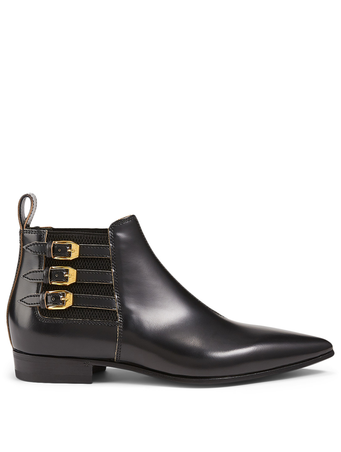 GUCCI Leather Ankle Boots Women's Black